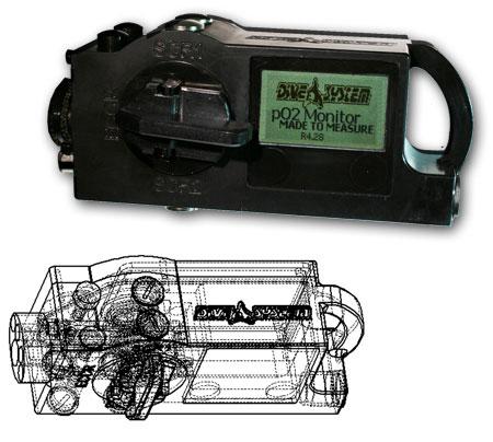 Po2 monitor per rebreather