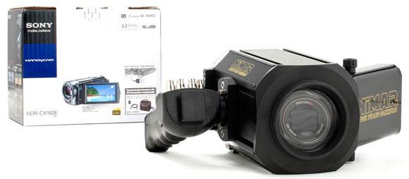 custodia Sub. Nimar NIHD100 e Videocamera Sony HDR-CX160e