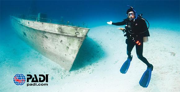 Padi specialità subacquea relitti