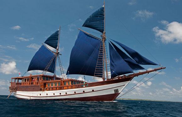Barca da crociera in Indonesia, Aurora