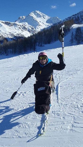 Giuseppe sugli sci