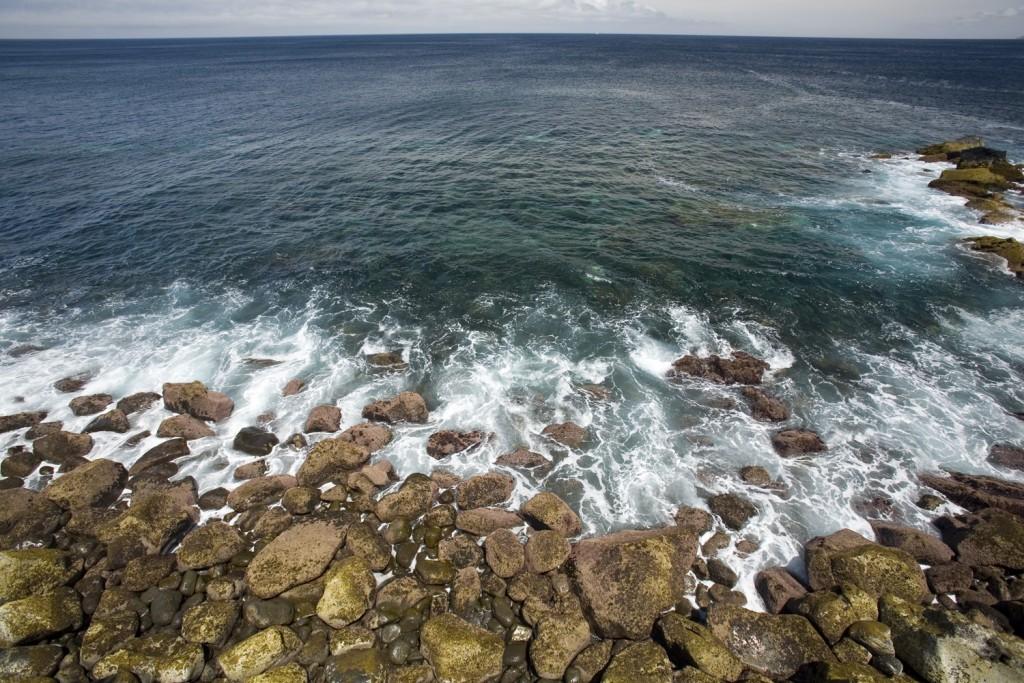 view of the coast and sea, Pico Island, Azores, Portugal, Atlantic Ocean