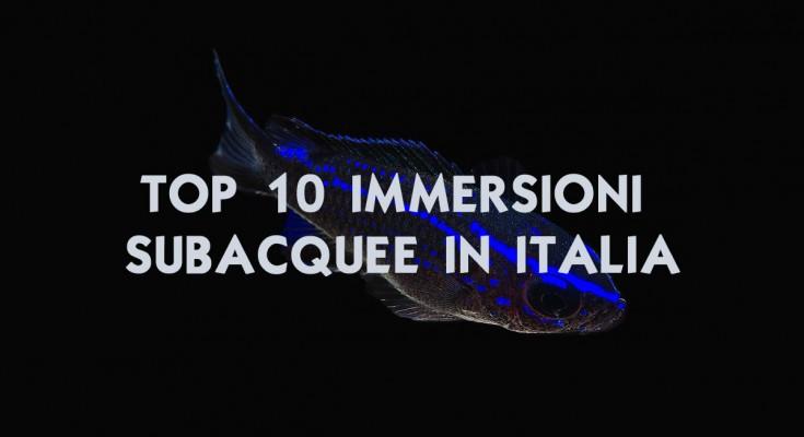 top 10 immersioni italia