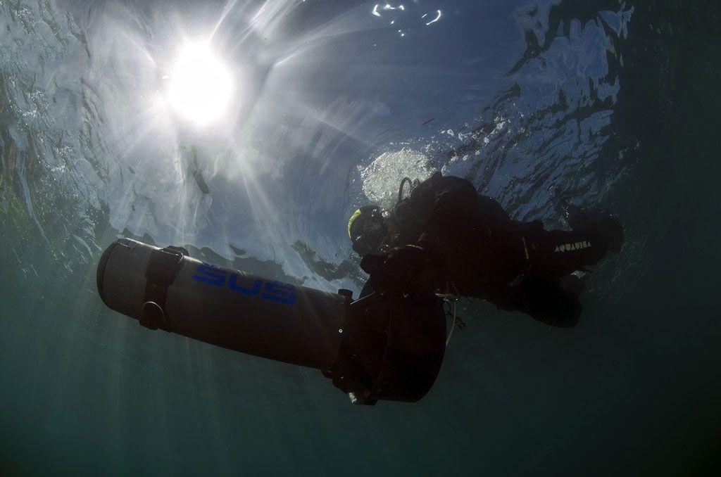 prova scooter subacqueo