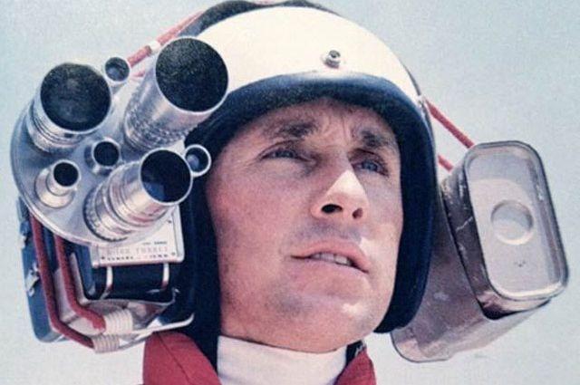 Il grande Jackie Stewart con la sua cinepresa