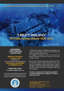 VII Trofeo Andrea Ghisotti-HDS ITALIA 2018:  termine per le iscrizioni.