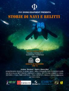 Storie di navi e relitti @ Diving Mondo Fondo, Genova
