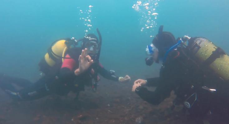 Skill in posizione di immersione
