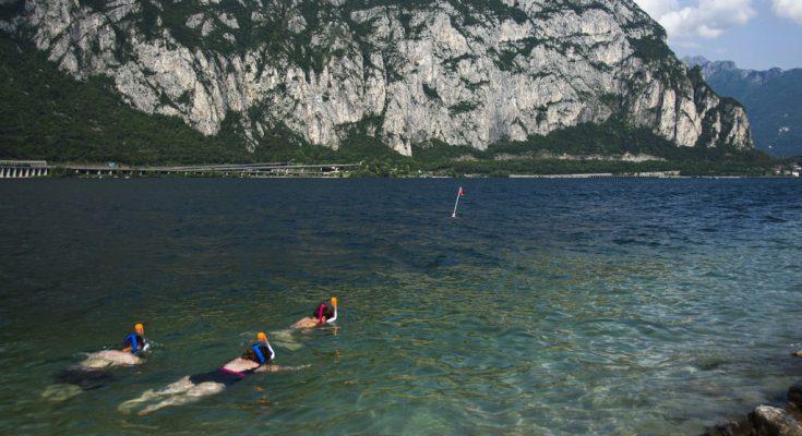 Snorkeling al lago di Lecco
