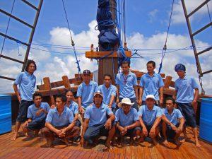 mancia per l' equipaggio subacqueo